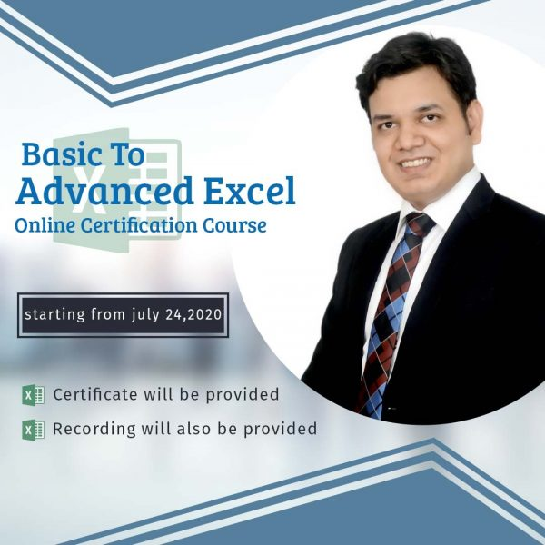 Register for 6 Days Excel Certification Course